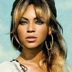 Beyonce with blonde and brown hair