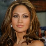 Jennifer Lopez with her trademark hair color