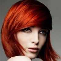 Woman With Bright Red Hair