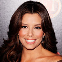 Eva Longoria Parker with brown natural hair