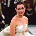 Anne Hathaway with dark hair color in princess diaries
