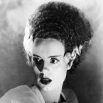 Bride of Frankenstein with tall hair