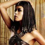 Cleopatra with her trademark black henna hair