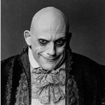 Uncle Fester with bald head