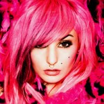 Audrey Kitching pink hair