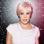 Pink with blonde and pink hair