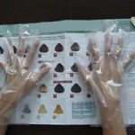 Plastic gloves for hair coloring