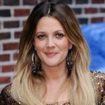 Drew Barrymore with brown to blonde ombre hair color