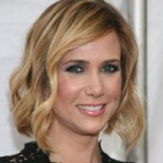Kristen Wiig with blonde wavy hair