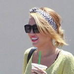 Miley Cyrus stepping out with bleach blonde hair