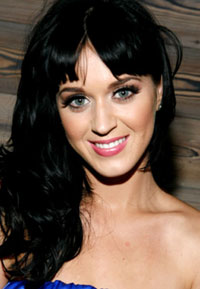 Katy Perry with new jet black hair
