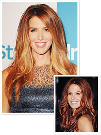 Poppy Montgomery with her new ombre hair