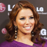 Eva Longoria with chestnut brown hair