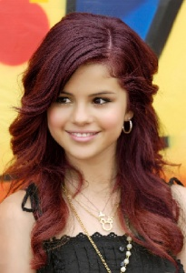 Selena Gomez Dark Red