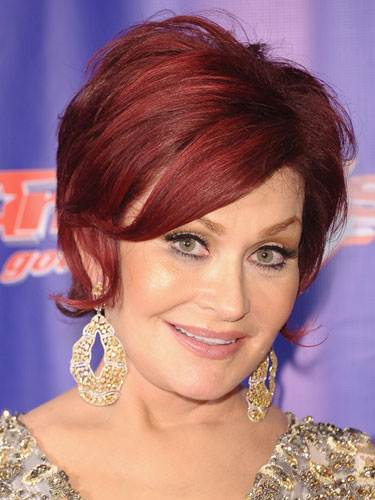 Sharon Osbourne Dark Red Hair Color